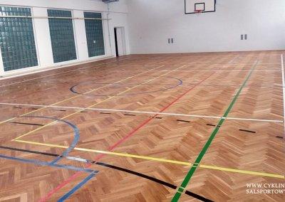 Cyklinowanie szkolnej sali gimnastycznej 5