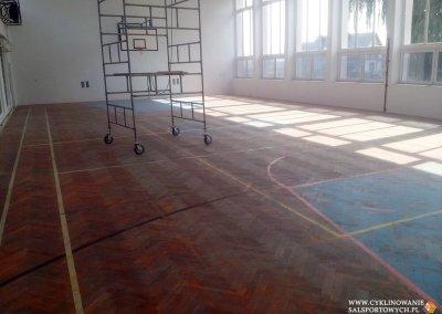 Cyklinowanie szkolnej sali gimnastycznej 6