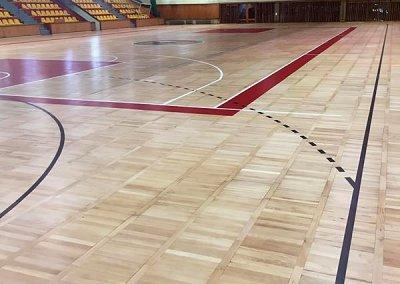cyklinowanie sali sportowej trapez