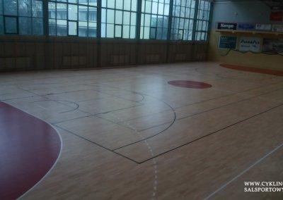 Cyklinowanie podłogi w hali sportowej