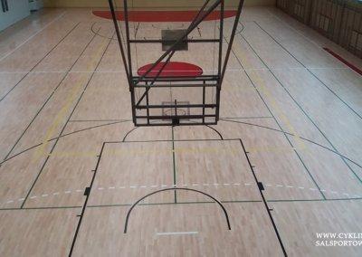 Efekt po cyklinowaniu podłogi sportowej